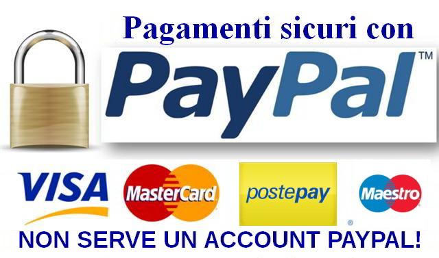 Acquista sicuro con PayPal