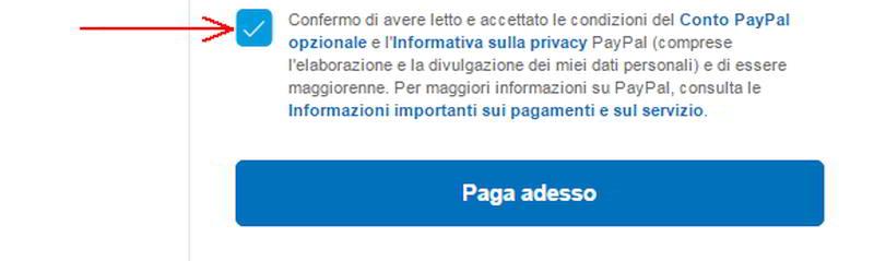 Paga adesso con PayPal