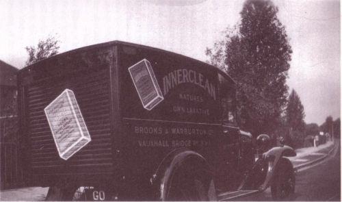 Il furgone usato per distribuire l'Innerclean.