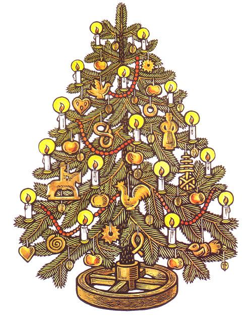 albero di natale solstizio d'inverno