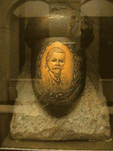 Urna dove riposano le ceneri di Arnold Ehret