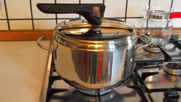 zuppa di verdure cottura