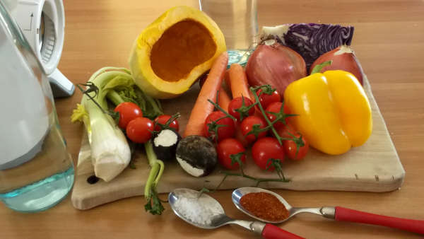 zuppa verdure preparate
