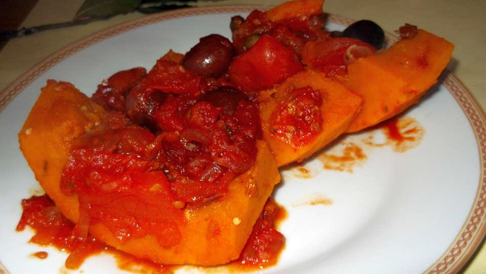 Baccalà vegetariano in umido