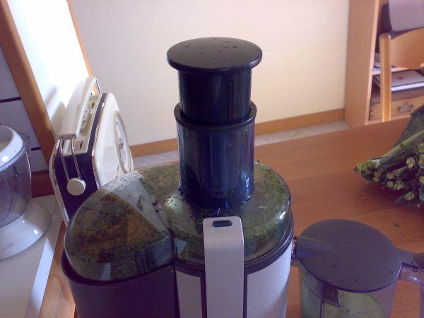 estrazione succo verdure a foglia verde