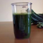 succo di verdure a foglia verde
