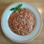 Piatto di grano saraceno pronto