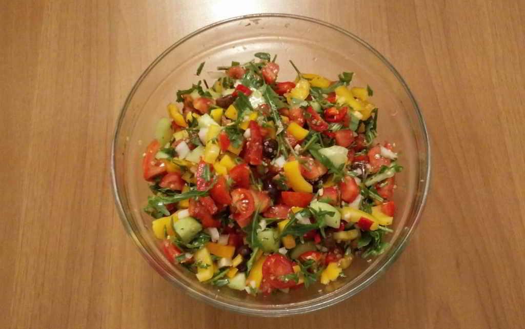 insalata mista con rucola